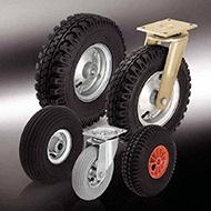 Колеса для тележек: Колёса и ролики с пневматической шиной
