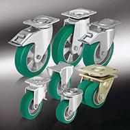 Колеса для тележек: Большегрузные колёса и ролики с литым полиуретановым контактным слоем Blickle Softhane®