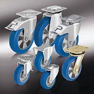 Колеса для тележек: Большегрузные колёса и ролики с литым полиуретановым контактным слоем Blickle Besthane® Soft