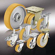 Колеса для тележек: Большегрузные колёса и ролики с литым полиуретановым контактным слоем Blickle Extrathane®
