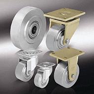 Колеса для тележек: Особо-большегрузные колёса и ролики из стали