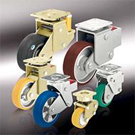 Колеса для тележек: Подпружиненные большегрузные ролики